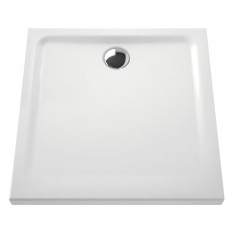 Receveur céramique 70x70x7,5 cm bonde 90