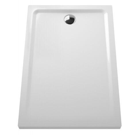 Receveur céramique Arkitekt 120x80x5x5 pour bonde Ø 90