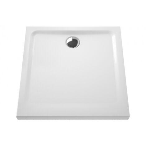 Receveur céramique Arkitekt 90x90x5,5 cm pour bonde Ø 90