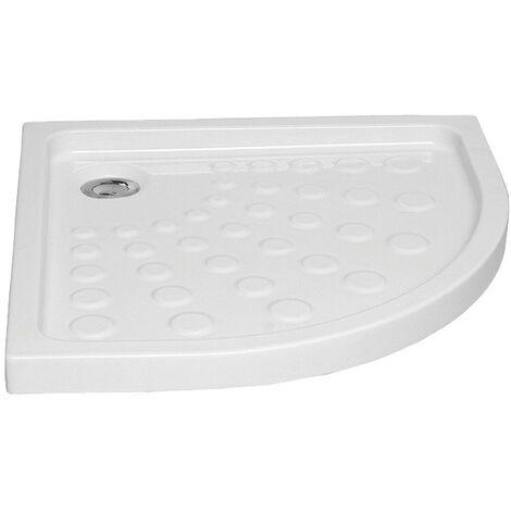 Receveur céramique Arkitekt dangle 1/4 de rond 90x90x7,5 cm pour bonde Ø 90