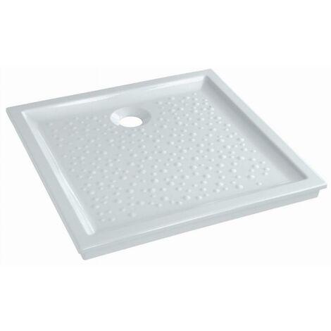 Receveur céramique GEBERIT Bastia - 70 x 70 - extra-plat à poser/encastrer - 00730300000001