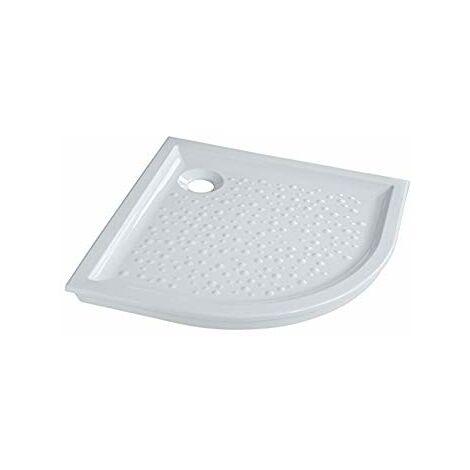 Receveur d'angle à encastrer PRIMA, 90 cm, extra-plat, avec traitement antiglisse, céramique blanc Réf 00735200000AG2