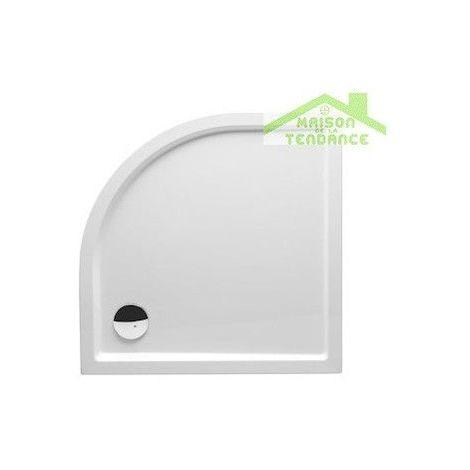 Receveur de douche 1/4 cercle RIHO DAVOS 289 120x120x4,5 cm avec pieds et tablier