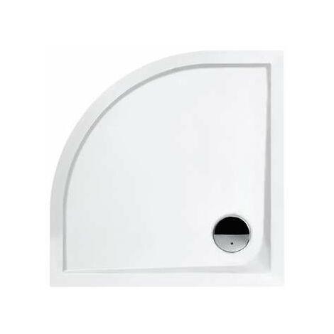 Receveur de douche 1/4 de rond blanc Slam - 90 x 90 cm - Leda