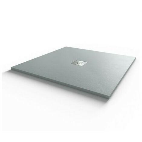 Receveur de douche 100x100 cm extra plat - gris ciment - DIAMANT