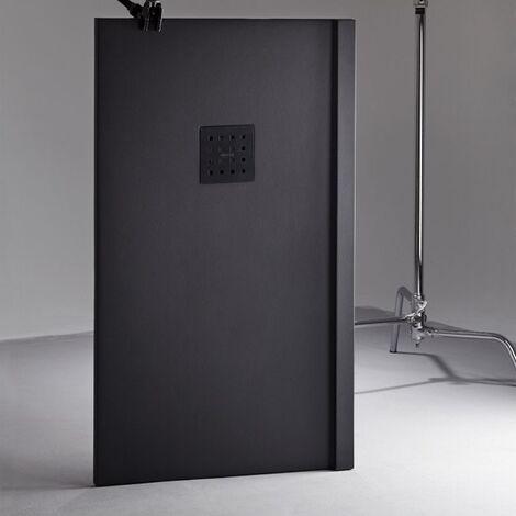 Receveur de douche 100x160 Liso Enmarcado Frontal Graphite