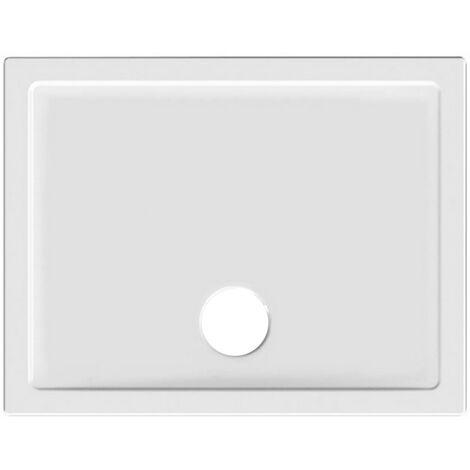 Receveur de douche 100x80 cm en céramique ultra-mince | Blanc