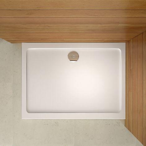 Receveur de douche 100x90cm sanitaire estra plat rectangulaire bac à douche