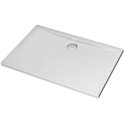 Receveur de douche 120X100 cm rectangulaire en acrylique Ideal Standard Ultraflat avec trou d'évacuation Ø90 mm   Blanc