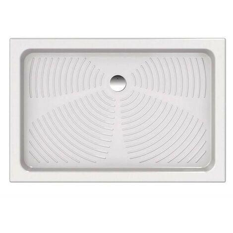 Receveur de douche 120x80 cm en céramique   Blanc