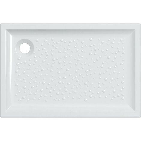 Receveur de douche 120x80 cm en céramique Gaia   Blanc