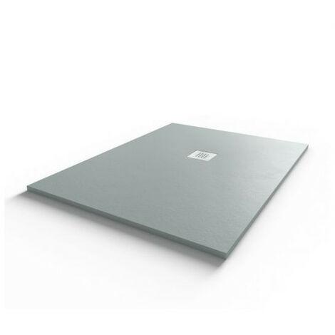 Receveur de douche 120x90 cm extra plat - gris ciment - DIAMANT