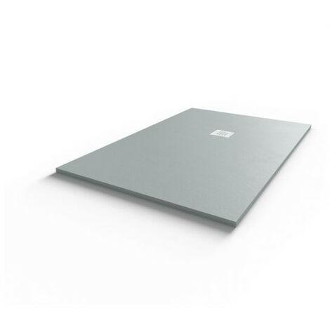 Receveur de douche 140x90 cm extra plat - gris ciment - DIAMANT