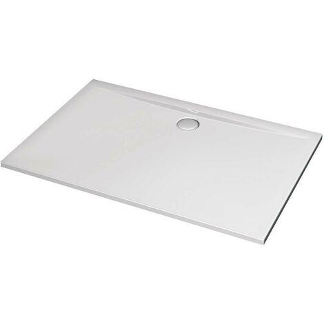 Receveur de douche 140X90 cm rectangulaire en acrylique Ideal Standard Ultraflat avec trou d'évacuation Ø90 mm   Blanc