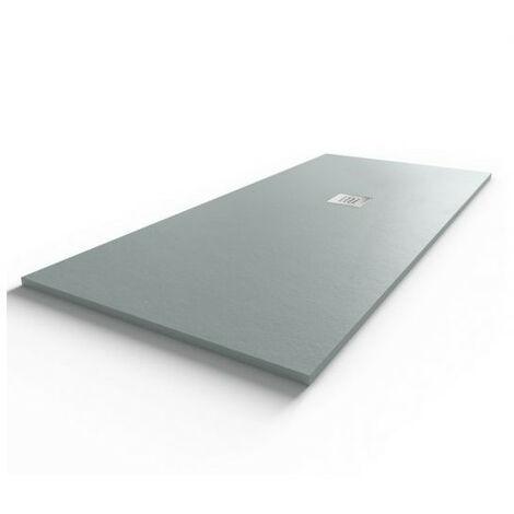 Receveur de douche 180x80 cm extra plat - gris ciment - DIAMANT
