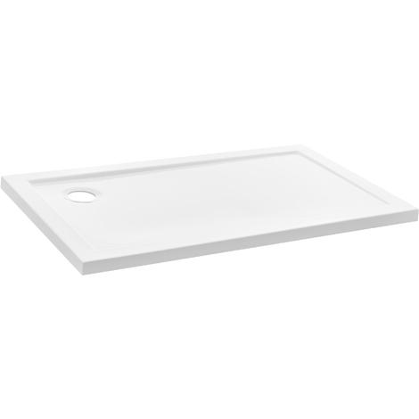 Receveur de douche 70x120cm blanc pur bac à douche rectangulaire extra plat salle de bains