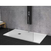 Receveur de douche 80 x 160 cm extra plat STRATO surface ardoisée, rectangulaire blanc