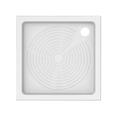 Receveur de douche 80x80 cm en céramique blanc azzurra Giove | Blanc