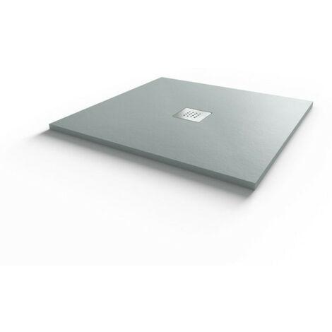 Receveur de douche 80x80 cm extra plat - gris ciment - DIAMANT