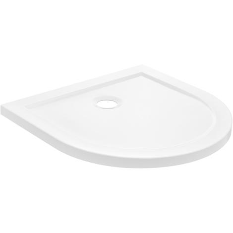 Receveur de douche 80x80cm blanc pur bac à douche en U extra plat salle de bains