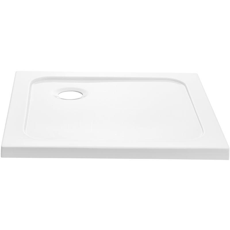 neu.haus Receveur de douche 70x70cm blanc pur bac /à douche quadratique extra plat salle de bains