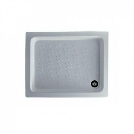 Receveur de douche 85x70xH10 cm en céramique Galassia Nibbio | Blanc