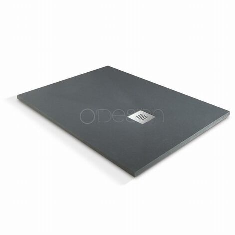 Receveur de douche à l'italienne O'Design Solidstone - 100 x 80 - Anthracite - Alicante