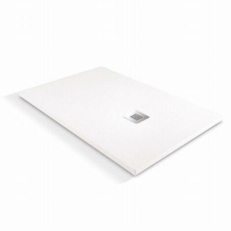 Receveur de douche à l'italienne O'Design Solidstone - 100 x 80 - Blanc - Alicante