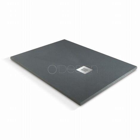 Receveur de douche à l'italienne O'Design Solidstone - 100 x 90 - Anthracite - Alicante