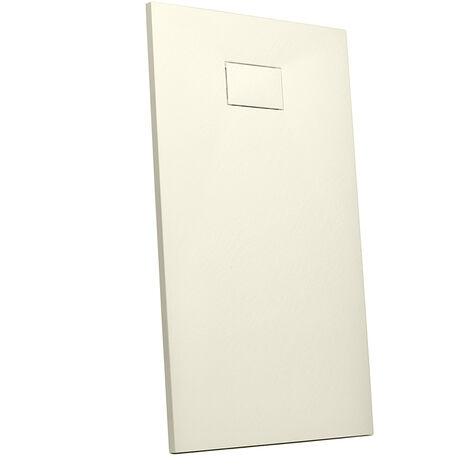 Receveur de douche à l'italienne rectangulaire en résine 110x70 salle de bain moderne Stone