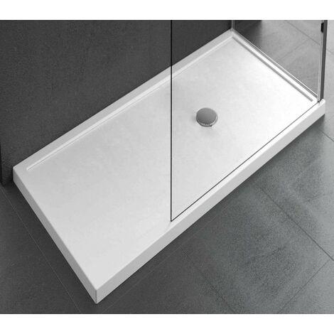 Receveur de douche à poser 12,5 cm blanc brillant Novellini Olympic Plus