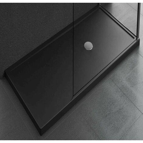 Receveur de douche à poser 12,5 cm couleur noir Novellini Olympic Plus