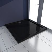 Receveur de douche ABS carré noir