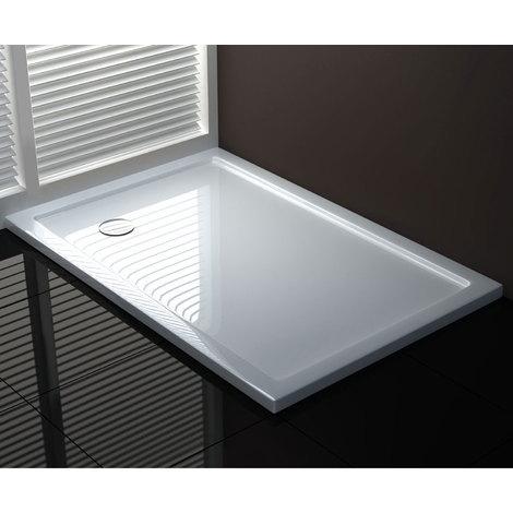 Receveur de douche acrylique effet pierre mod. Stone Ultraslim