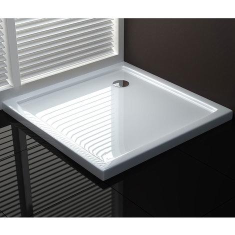 Receveur de douche 80x80x4 carré acrylique mod. UltraFlat