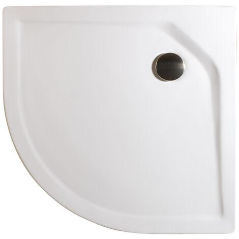 Receveur de douche acrylique, quart de cercle, extra plat, à encastrer, avec pieds, Schulte, 80 x 80 x 3,5 cm