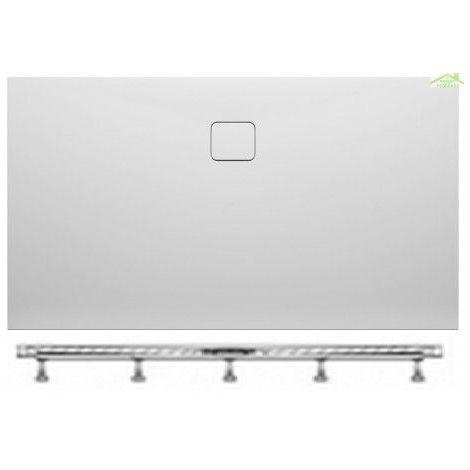 Receveur de douche acrylique rectangulaire RIHO BIASCA 420 160x90x4,5 cm pieds inclus