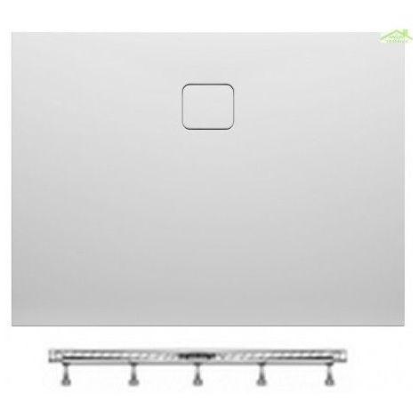 Receveur de douche acrylique rectangulaire RIHO BIASCA 432 120x100x4,5 cm pieds inclus