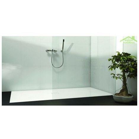 Receveur de douche acrylique rectangulaire RIHO BIASCA 434 140x100x4,5 cm pieds inclus