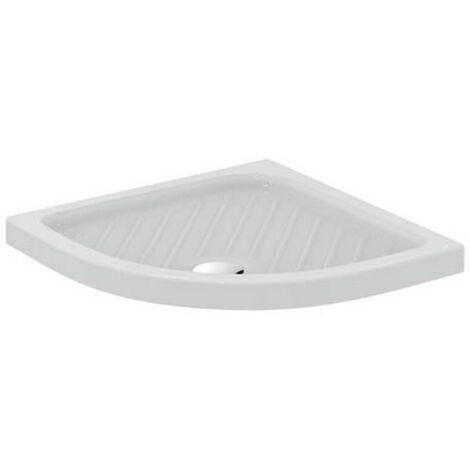 Receveur de douche angulaire 80x80 cm en céramique blanche brillante série Atlanta | Blanc