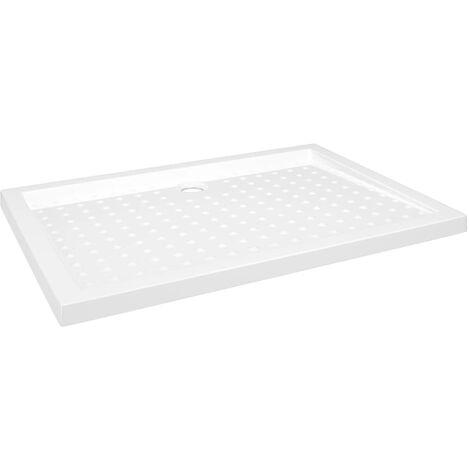 Receveur de douche avec picots Blanc 70x100x4 cm ABS