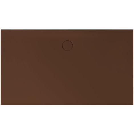 Receveur de douche Bette Floor Side Shower Tray avec Anti-Slip Pro 3396, 110x90cm, Coloris: café - 3396-430AE