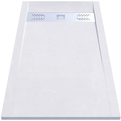 Receveur de douche blanc découpable 3.5cm CELEST - 160x90cm