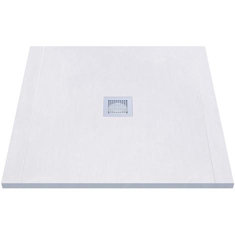 Receveur de douche blanc découpable 3cm CELEST - 90x90cm