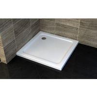 Receveur de douche carré - 100 x 100 cm et système d'évacuation
