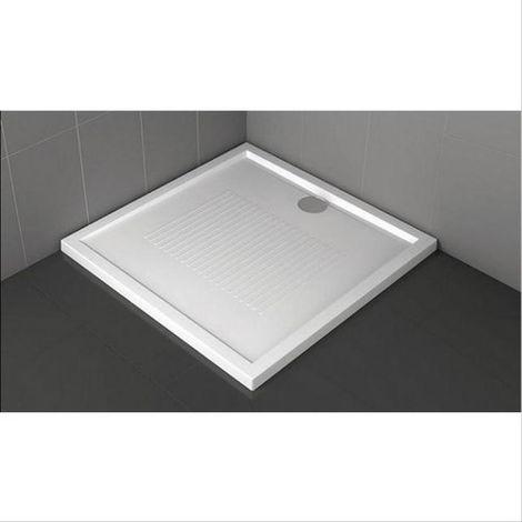Receveur de douche carré 11,5 cm couleur noir Novellini Olympic