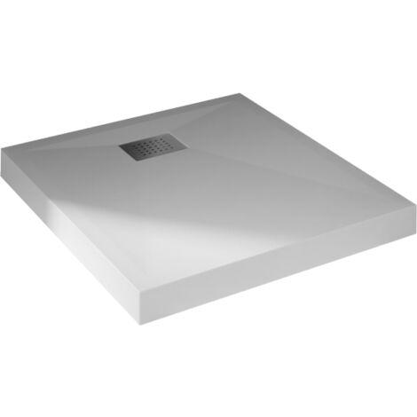 Receveur de douche carré blanc - 90 x 90 cm - Kinecompact - kinedo