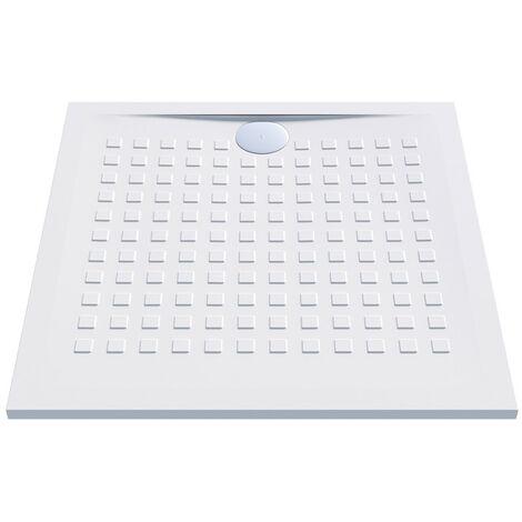 Receveur de douche carré blanc - Resisol - Créazur