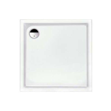 Receveur de douche carré blanc Slam - 80 x 80 cm - Leda