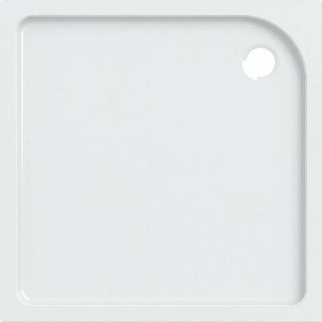 Receveur de douche carré Geberit Tala, brillant / blanc, 100 x 100 cm - 662400000